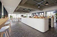 exposed ceiling + neutral | Huis van Portaal Head office by Concern | Utrecht   Netherlands