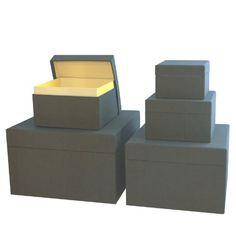 Set of 5 gift boxes - linen anthrazit +++ NEW! Water-repellent linen +++ STORAGE BOX  £89.90 +++ Quality made by Semikolon Semikolon http://www.amazon.co.uk/dp/B00C6CMP4E/ref=cm_sw_r_pi_dp_Dl8jvb0B2HDEY