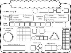 It's Calendar Time! Interactive Daily Calendar Book {K} Kindergarten Classroom, Math Classroom, Teaching Math, Kindergarten Shapes, Kindergarten Calendar, Classroom Ideas, Teaching Calendar, Teaching Ideas, Classroom Inspiration