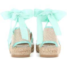 Oscar de la Renta Adriana Suede Espadrilles ($415) ❤ liked on Polyvore featuring shoes, sandals, oscar de la renta, suede sandals, oscar de la renta shoes, suede shoes and suede espadrilles