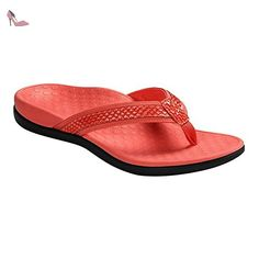 Vionic  Vionic Islander Toe Post Sandal, Tongs pour femme - Rouge - Coral Snake, 38 2/3 - Chaussures vionic (*Partner-Link)