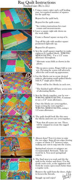 rag quilt instructions - I can see this in off-whites.