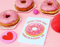 Funny friendship greeting card, Donut card, Best friend card, Donut gift ideas, Donut pun card, Funny food pun card, I donut know card