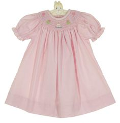 NEW Petit Ami Pink Checked Bishop Smocked Birthday Dress with Matching Diaper Cover $50.00