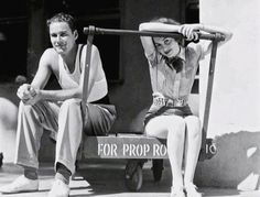 Errol Flynn & Olivia de Havilland, 1938.