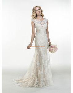 Maggie Sottero Romantische Süße Brautkleider aus Softnetz mit Applikation