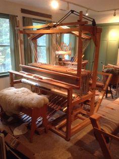 "Colonial LeClerc 60"" 12 Harness Loom in my weaving Room"