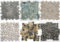 Pebble mosaic placemats (maybe for under center pieces)