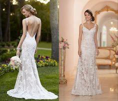 Backless lace wedding dress patterns