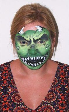 face paint - gremlin