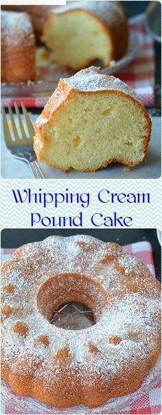 Whipping Cream Pound Cake Classic pound cake recipe prepared with whipping cream – super moist with a crunchy outside layer. The inner texture is light, spongy, and dense kind of like the market pound cakes. Bunt Cakes, Cupcake Cakes, Cupcakes, Just Desserts, Delicious Desserts, Dessert Recipes, Classic Pound Cake Recipe, Heavy Cream Pound Cake Recipe, Butter Pound Cake