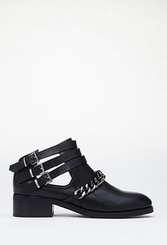 Chained Ankle-Strap Booties | FOREVER21 | #stepitup