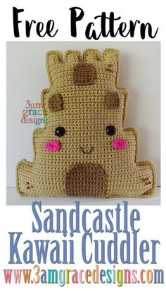 Free Sandcastle Crochet Kawaii Cuddler pattern - 3amgracedesigns