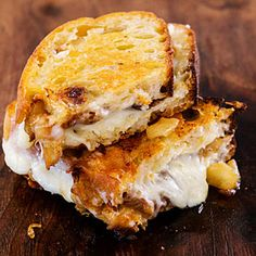 Grilled Cheese with Asian pear or firm Bosc pear ~ I did this, it was good but the pear slid all over the sandwich! It was a mess!