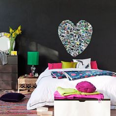 heart on wall interior design bedroom home decor