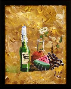 still life by 9 yr old homeschooler