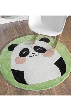Rugs USA Inspire Cute Panda Green Rug. Rugs USA pre BlACK FRIDAY SALE 75% Off! Area rug, rug, carpet, design, style, home decor, interior design, pattern, home interior,  trends, home, statement, fall,design, autumn, cozy, sale, discount, interiors, house, free shipping, fall decorations, fall crafts, fall décor, great winter, winter, warm, furniture, chair, art.