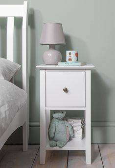 Asora makes a cute bedside companion to your bed. Simple and chic, Asora has just enough space for a pretty lamp or cute ornament, whilst it's deep drawer and shelving area indicates functionality. #kidsbedroom #bedroomideas #kids #kidstoys Bedroom Storage, Bedside, Kids Bedroom, Storage Spaces, Shelving, Drawers, Ornament, Deep, Chic