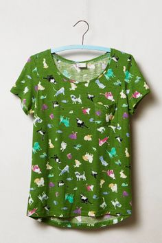 Watercolor Chatty Tee - critters pattern