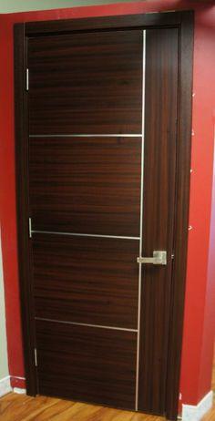 Capri Modern Interior Door Mahogany Finish $249 . Price includes door slabframe and moldings. Hinges and door handles separate. & Mia Interior Door in an Italian Wenge finish | Exotic Wood Veneer ...