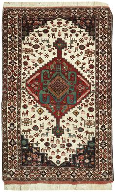 This beautiful Handmade Knotted Rectangular rug is approximately 4 x 6 New Contemporary area rug from our large collection of handmade area rugs with Persian Baluchi style from Iran/Persia with Wool