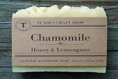 Natural handmade Chamomile Honey Lemongrass Soap Scented Hot