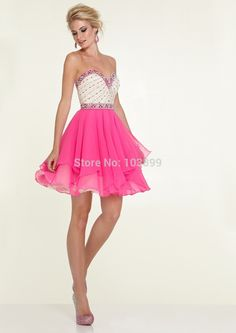 Prom Dresses 2015 sweetheart a line short mini prom dress with layered chiffon skirt bicolor , You will find many long prom dresses and gowns from the top formal dress designers and all the dresses are custom made with high quality Mini Prom Dresses, Cheap Dresses, Sexy Dresses, Party Dresses, Strapless Dress Formal, Short Dresses, Dress Party, Occasion Dresses, Beaded Chiffon