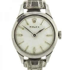 Pre-owned Vintage Rolex Ladies Dress Watch ($1,250) ❤ liked on Polyvore featuring jewelry, watches, stainless steel watches, stainless steel wrist watch, preowned jewelry, stainless steel jewellery and stainless steel jewelry