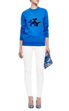 Puppy Love Appliquéd Sweatshirt by Ostwald Helgason - Moda Operandi