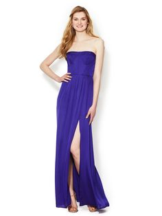 Enyas Strapless Seamed Bust Gown by BCBGMAXAZRIA at Gilt
