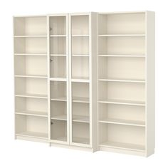 BILLY Bookcase combination with doors - white - IKEA - about $300 - living room or hall?