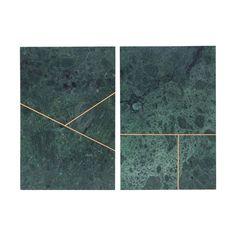 Talerz marmurowy Marble 2 szt. zielone - małe zdjęcie