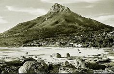 Camps Bay beach in Old Pictures, Old Photos, Vintage Photos, Cape Town South Africa, African History, Camps, Places To Visit, Explore, City
