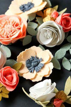 Felt Flowers Details + Clip Tutorial - delia creates