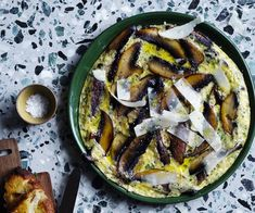 Herb frittata with mushrooms recipe - Whisk eggs in a bowl with herbs, grated parmesan and a pinch of salt flakes. Hainanese Chicken Rice Recipe, Chicken Rice Recipes, Quick Vegetarian Meals, Quick Meals, Red Lentil Soup, Frittata Recipes, Egg Dish, Picnic Foods, Vegetarian Food