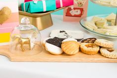 Set the table for your Mother's Day brunch with this wood tray. It's the perfect way to serve up sweets and other finger foods!