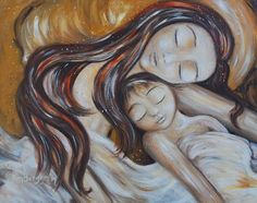 yellow, attachment, baby, bed, blanket, closed eyes, brown hair, co-sleep, connection, cosleep, cuddle, daughter, family bed, hold, son, daughter, intimate, long hair, love, mother and child, toddler, peace, protection, together, warm
