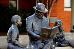Sculpture in Historic Downtown Bryan Texas