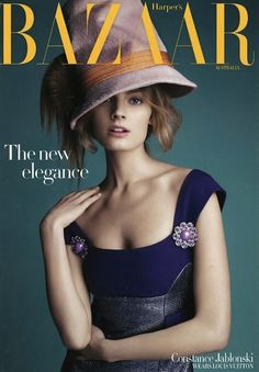 Everything in frame are just-- this is beauty. Constance Jablonski covers the September issue of Harper's Bazaar Australia.