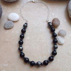 Black Onyx and Hematite Necklace