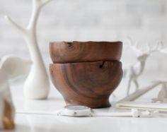 Walnut bowls, wooden bowl, Hand turned wood bowls, Wood salad bowls, free shipping