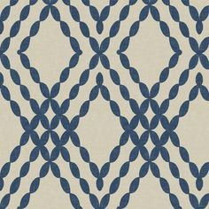 Kensington Trellis in Indigo on Tint fabric by willowlanetextiles on Spoonflower - custom fabric
