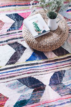 VINTAGE MOROCCAN BOUCHEROUITE KILIM RUG // THE ILA the word boucherouite comes from a moroccan-arabic phrase meaning torn and reused clothing. in