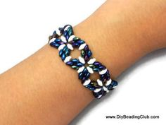 How to use super-duos for square shape components  ~ Seed Bead Tutorials