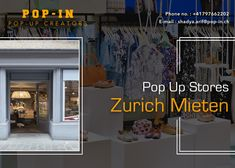 Looking for a pop-up store in Zurich Mieten, but not sure where to start? Contact Pop IN at We provide space in Zurich Mieten to small businesses to pump up your business & gain potential customers. Space Available, Pop Up Stores, Small Businesses, Gain, Pump, Two By Two, Website, Street, City