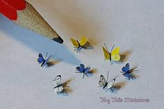 Tiny Tails Miniatures, Miniature Butterflies,Spiders, c. - Small Creatures