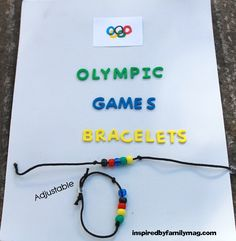 Olympic Games Bracelet: Winter Olympics Crafts for Kids. #StayCurious