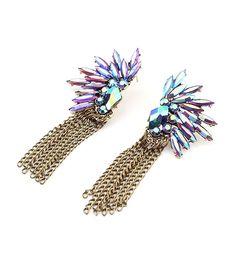 Long Tassel Earrings.