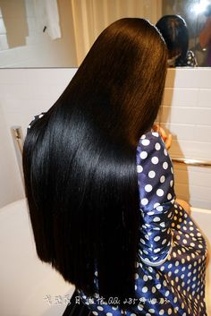 Trying to find hair care tips? Hairstyle Look. Thick Hair Bob Haircut, Bun Hairstyles For Long Hair, Braids For Long Hair, Hairstyle Hacks, Long Straight Black Hair, Long Dark Hair, Long Black, Beautiful Long Hair, Gorgeous Hair