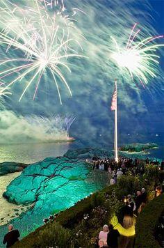 Fireworks over Massachusetts Bay
